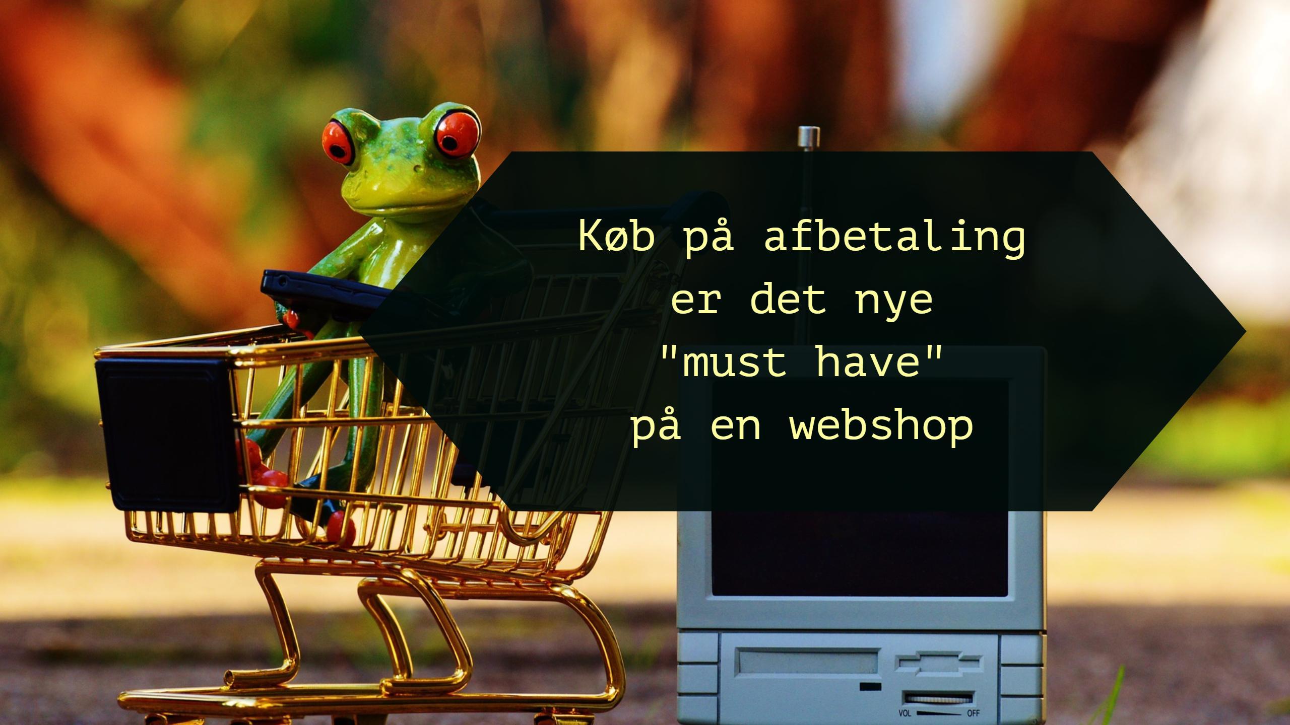 """Køb på afbetaling er det nye """"must have"""" på en webshop"""