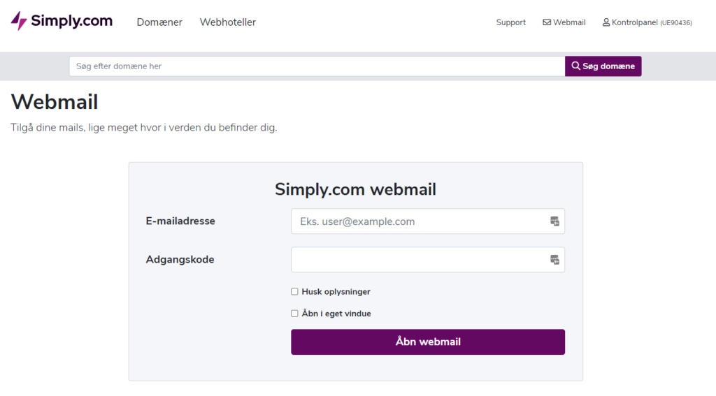 simply webmail