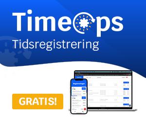 timeops - timeregistrering - tidsregistrering - gratis app